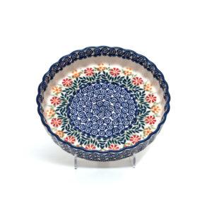 Bunzlauer Keramik Quiche Tarteform 23cm Dekor JS14