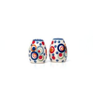 Bunzlauer Keramik Salzstreuer & Pfefferstreuer 2er Set AS38 Unikat Modern