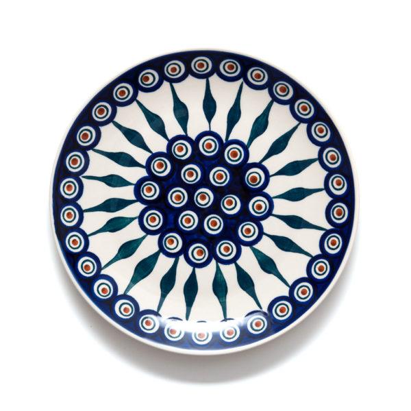 Bunzlauer Keramik Teller 22 cm Dekor 54 Handarbeit - 2.Wahl