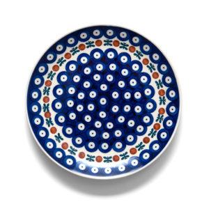 Bunzlauer Keramik Teller 22 cm Dekor 70 Handarbeit - 2.Wahl