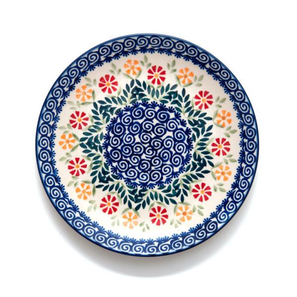 Bunzlauer Keramik Teller 22 cm Dekor JS14 Handarbeit - 2.Wahl