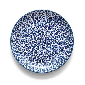 Bunzlauer Keramik Teller 22 cm Dekor MAGD Handarbeit - 2.Wahl