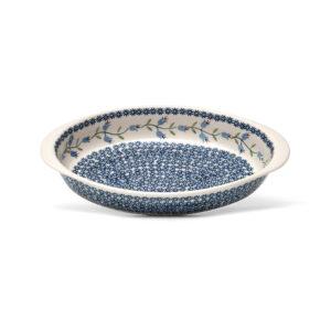 Bunzlauer Keramik Auflaufform oval groß 32x23cm Dekor ASD Handarbeit