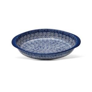 Bunzlauer Keramik Auflaufform oval groß 32x23cm Dekor MAGM Handarbeit
