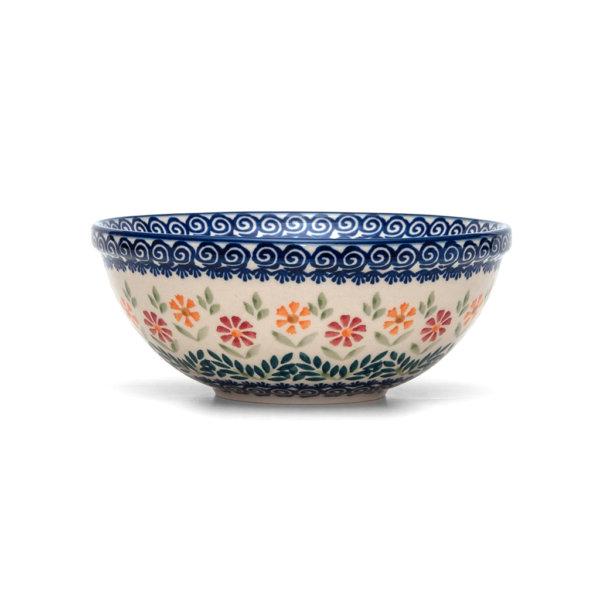 Bunzlauer Keramik Schüssel 20cm Dekor JS14 Handarbeit Neu