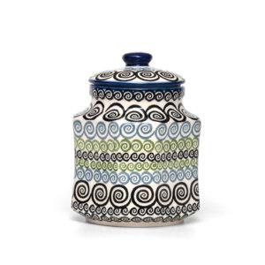 Bunzlauer Keramik Behälter Topf Vorratsdose 1 Liter CGZC Unikat Modern Handarbeit