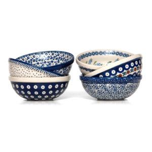 Bunzlauer Keramik Schüsseln Schalen 15 cm 6er Set Handarbeit Neu