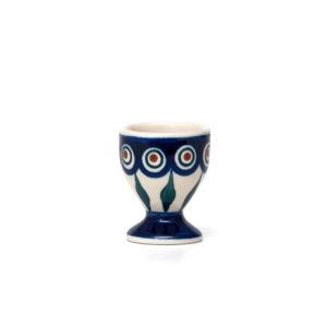 Bunzlauer Keramik Eierbecher mit Fuß Dekor 54