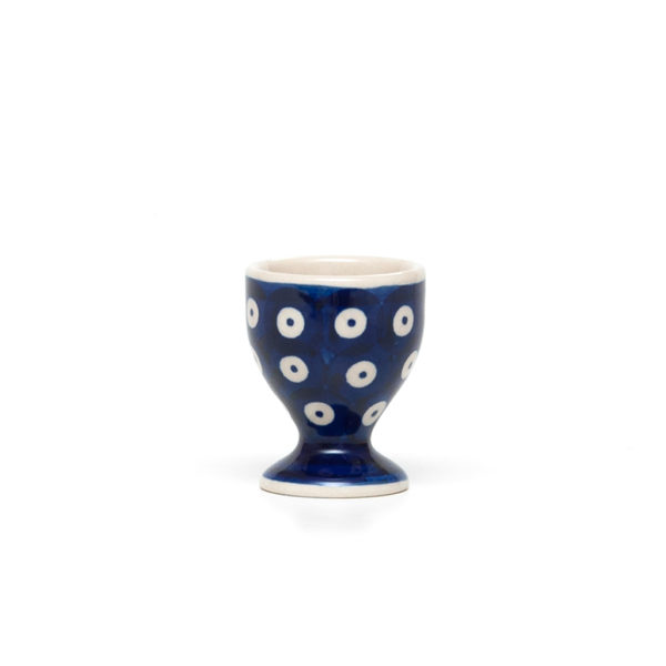 Bunzlauer Keramik Eierbecher mit Fuß Dekor 70A