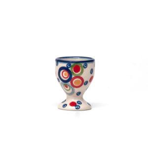 Bunzlauer Keramik Eierbecher mit Fuß AS38 Unikat Modern
