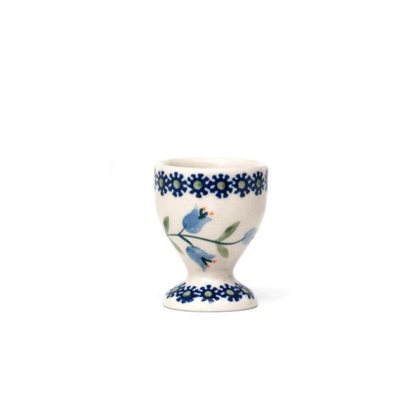 Bunzlauer Keramik Eierbecher mit Fuß Dekor ASD