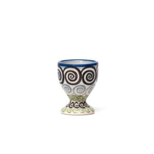 Bunzlauer Keramik Eierbecher mit Fuß CGZC Unikat Modern