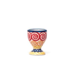 Bunzlauer Keramik Eierbecher mit Fuß CMZK Unikat Modern