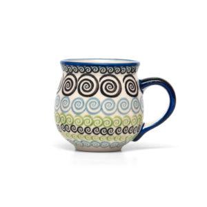 Bunzlauer Keramik Kugelbecher 300 ml Dekor CGZC Unikat Modern