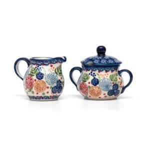 Bunzlauer Keramik Zuckerdose mit Milchkännchen 2er Set KOKU Unikat Modern signiert