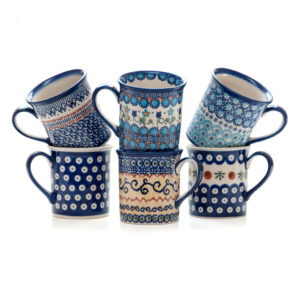 Bunzlauer Keramik Becher Tasse Vol.250 ml 6er Set Handabeit Neu