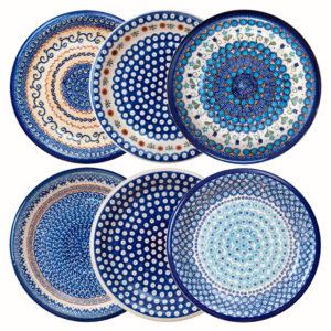 Bunzlauer Keramik Speiseteller, Essteller 26 cm 6er Set Handarbeit Neu