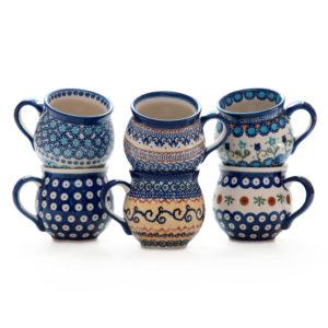 Bunzlauer Keramik Kugelbecher 250ml 6er Set Handarbeit