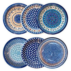 Bunzlauer Keramik Suppenteller Pastateller 22 cm 6er Set Handarbeit Neu