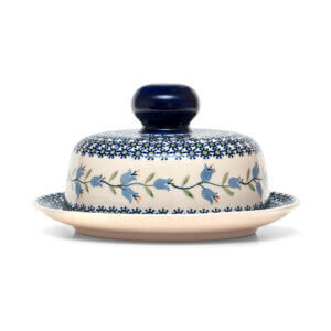 Bunzlauer Keramik Käseglocke mit Deckel 21cm Frischhalteglocke 2tlg. Dekor ASD