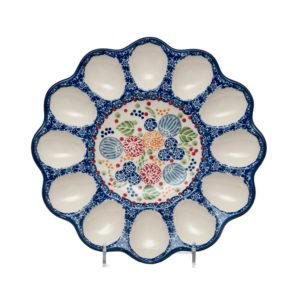 Bunzlauer Keramik Eierplatte Dekor KOKU Unikat Modern signiert