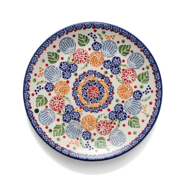 Bunzlauer Keramik Frühstücksteller 22 cm Dekor KOKU Unikat signiert - 2.Wahl