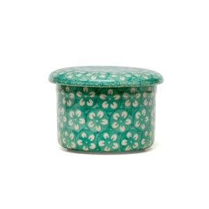 Bunzlauer Butterdose mit Wasserkühlung 125g Kolor Love Minze