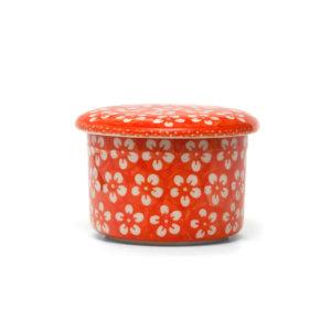 Bunzlauer Butterdose mit Wasserkühlung 125g Kolor Love Orange