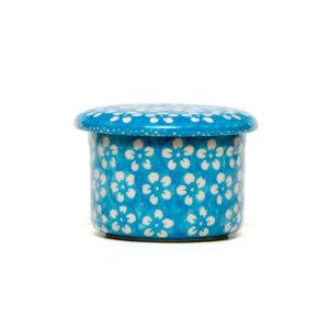 Bunzlauer Butterdose mit Wasserkühlung für 125g Dekor Kolor Love Türkis