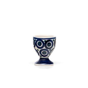 Bunzlauer Keramik Eierbecher mit Fuß Dekor 58