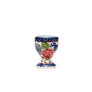 Bunzlauer Keramik Eierbecher mit Fuß Dekor KOKU Unikat Modern signiert