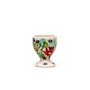 Bunzlauer Keramik Eierbecher mit Fuß Dekor MC20