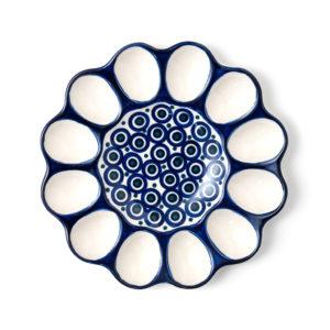 Bunzlauer Keramik Eierplatte 26cm Dekor 58