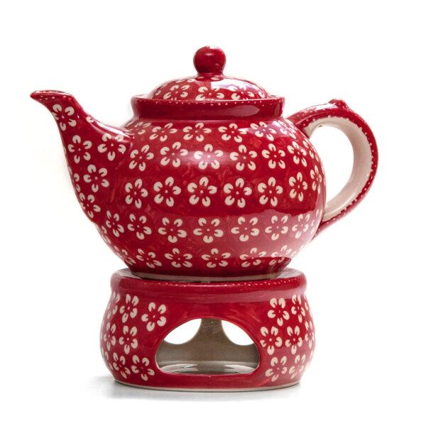 Bunzlauer Keramik Dekor Kolor Love Red Handarbeit