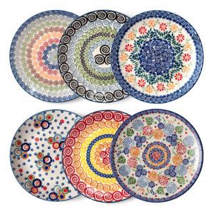 Bunzlauer Keramik Frühstücksteller 22 cm 6er Set