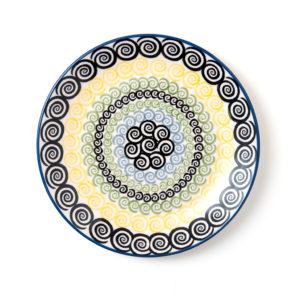 Bunzlauer Keramik Frühstücksteller 22 cm Dekor CZZC Unikat Modern