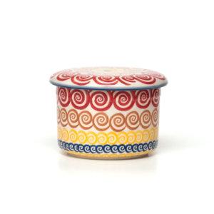 Bunzlauer Butterdose mit Wasserkühlung 125g CMZK Unikat Modern