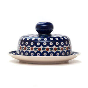 Bunzlauer Keramik Käseglocke mit Deckel 21cm Frischhalteglocke 2tlg. Dekor 70