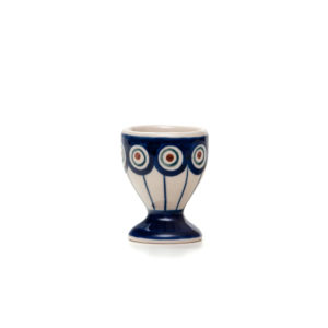 Bunzlauer Keramik Eierbecher mit Fuß Dekor 54A