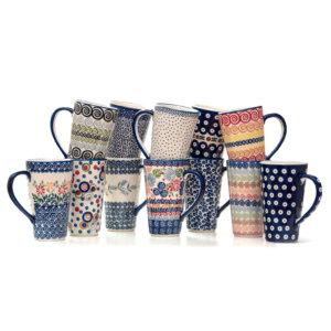 Bunzlauer Keramik Latte Tassen 400ml 12er Set Handarbeit