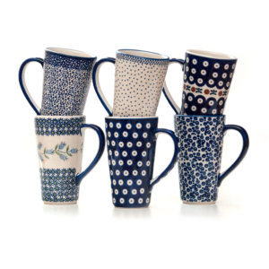 Bunzlauer Keramik Latte Tassen 400ml 6er Set Handarbeit