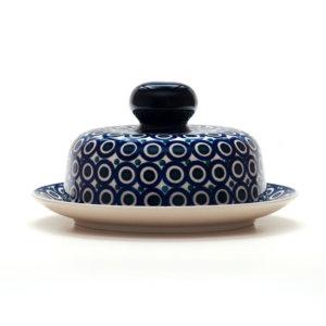 Bunzlauer Keramik Käseglocke mit Deckel 21cm Frischhalteglocke 2tlg. Dekor 58
