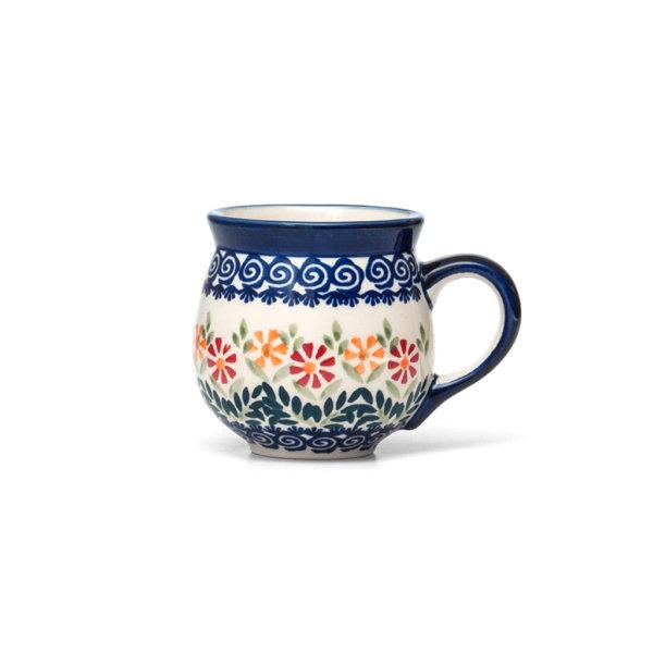 Bunzlauer Keramik Kugelbecher 200 ml Dekor JS14