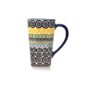 Bunzlauer Keramik Latte Tassen 400ml Dekor CZZC Unikat Modern