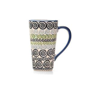 Bunzlauer Keramik Latte Tassen 400ml Dekor CGZC Unikat Modern