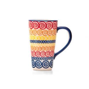 Bunzlauer Keramik Latte Tassen 400ml Dekor CMZK Unikat Modern