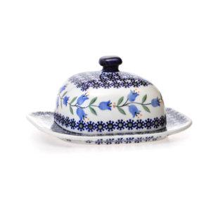 Bunzlauer Keramik Butterdose quadratisch für 125g Butter Dekor ASD