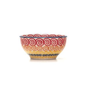 Bunzlauer Keramik Schale 13 cm Dekor CMZK Unikat Modern Handarbeit