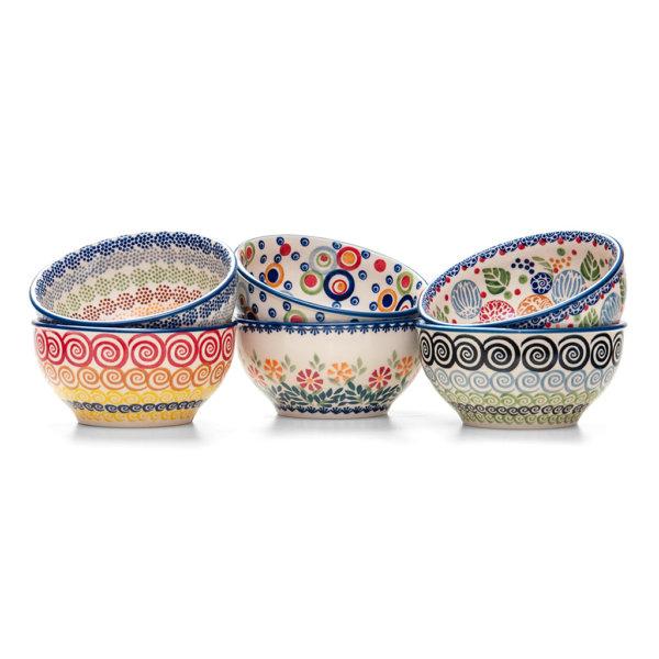 Bunzlauer Keramik Schalen 13 cm 6er Set Handarbeit Neu