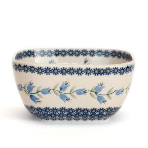 Bunzlauer Keramik Schüssel 16x16cm quadratisch Dekor ASD Handarbeit